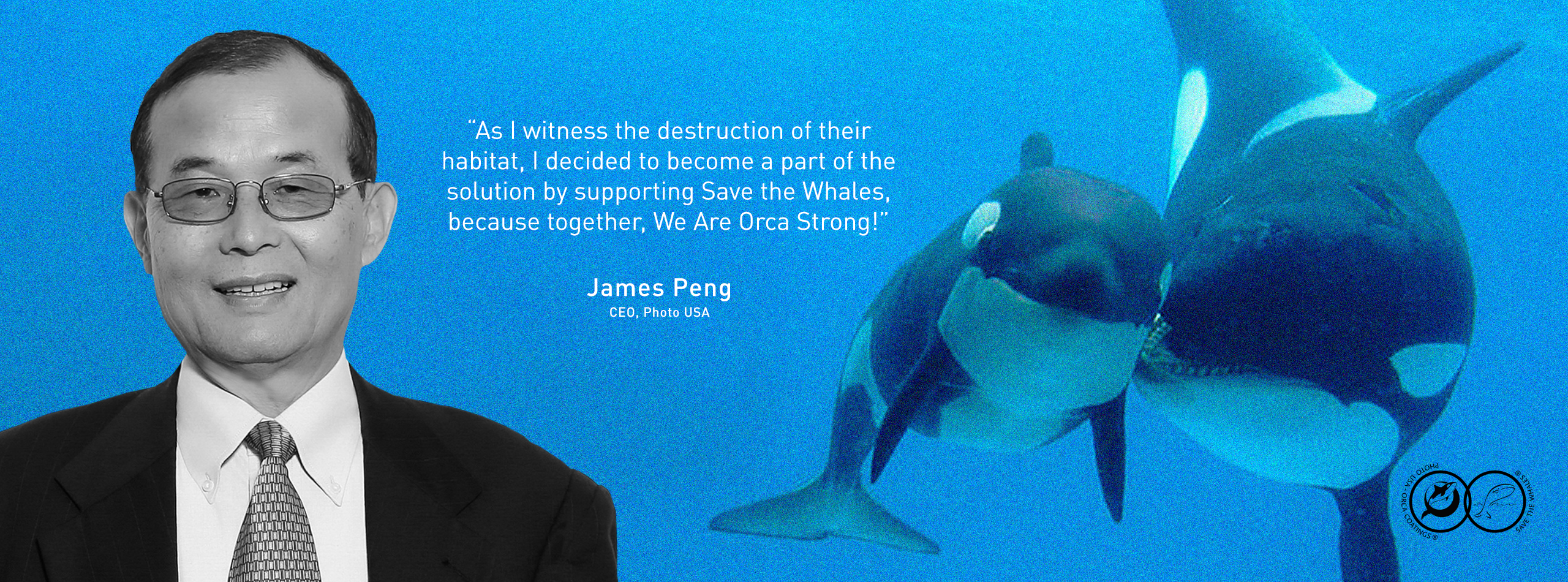 James Peng, CEO of Photo USA Corp is Dedicated to Helping Preserve the Ocean's Inhabitants with Donations